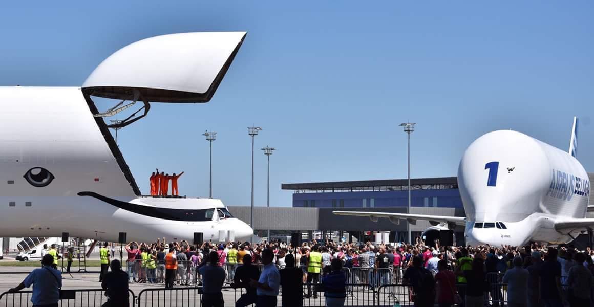 إيرباص تختبر  حوت الشحن الأبيض  BelugaXL