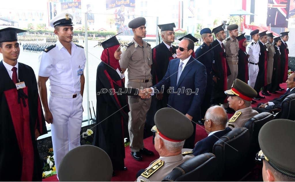 صور| تفاصيل حفل تخرج دفعات جديدة من الكليات العسكرية بحضور «السيسي»