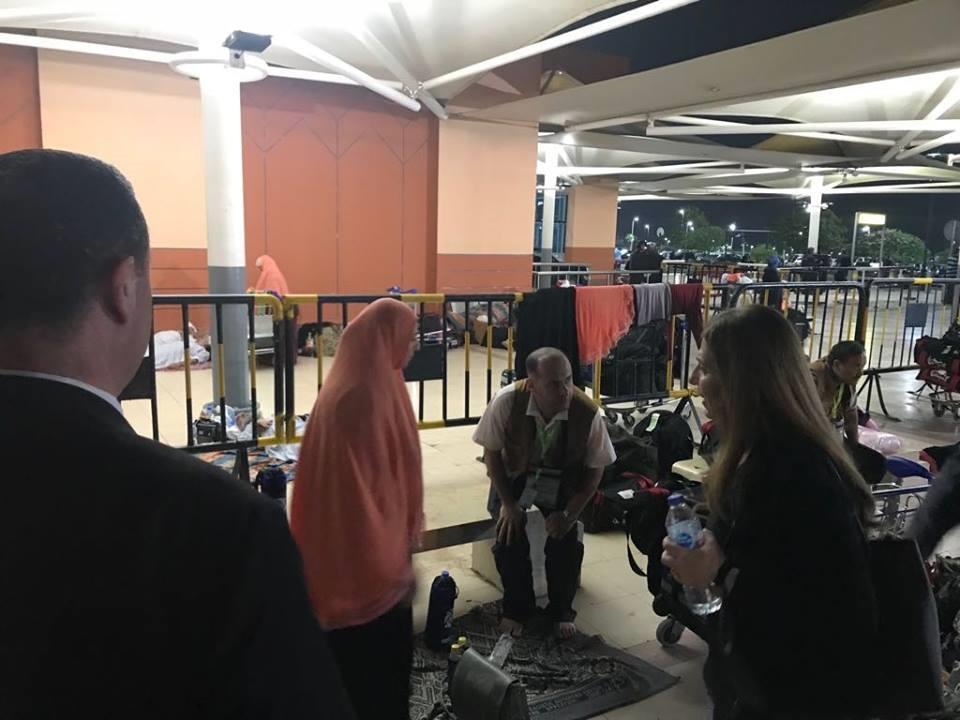 الدفعة السادسة من حجاج قطاع غزة تغادر مطار القاهرة