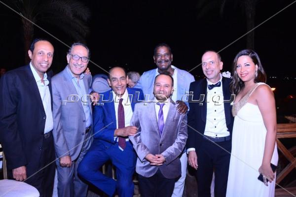 نجوم الفن والمجتمع بحتفلون بزفاف مصطفى محمد الصاوي