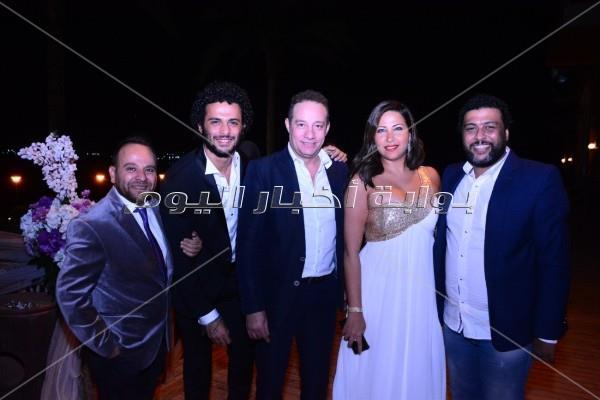 نجوم الفن والمجتمع يحتفلون بزفاف مصطفى محمد الصاوي