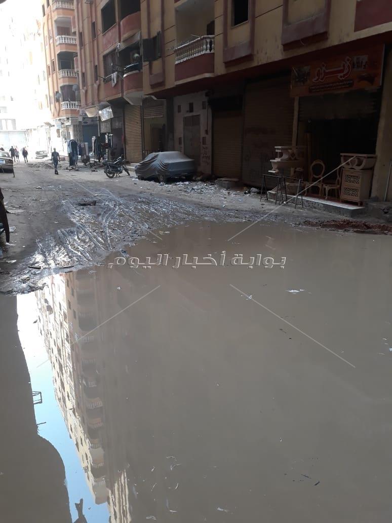 «الصرف الصحي» يغرق شارع «حسن الضو» بفيصل