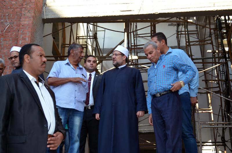 وزير الأوقاف ومحافظ البحر الأحمر يتفقدان مقر «الثقافة الإسلامية» بمسجد المينا