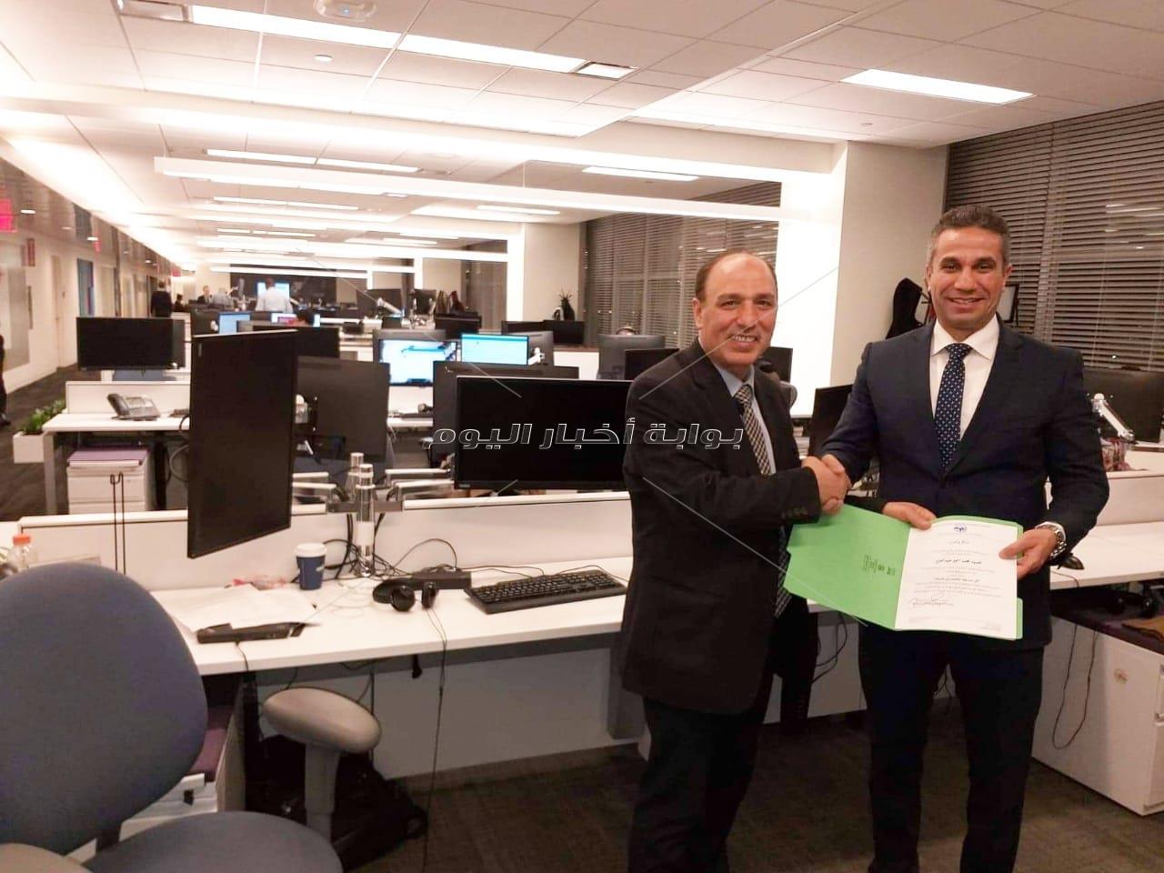 تكريم العميد محمد سمير والإعلامية إيمان أبوطالب بنيويورك