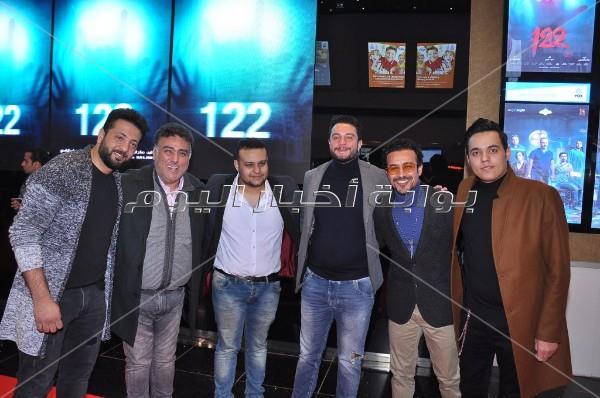 طارق لطفي والفيشاوي وأمينة خليل يحتفلون بعرض «122»