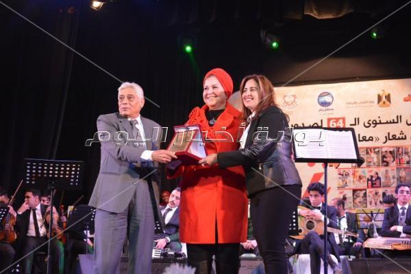 تكريم خالد جلال ونهال عنبر ومايا مرسي بمسرح «الشباب والرياضة»