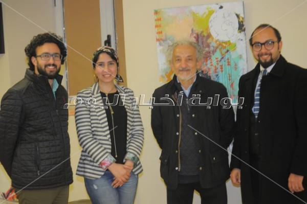 أشرف رضا يفتتح معرض الدكتورة ابتسام الجيزاوي