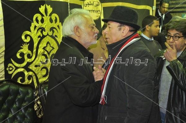 نجوم الفن في عزاء نادية فهمي بمسجد عمر مكرم