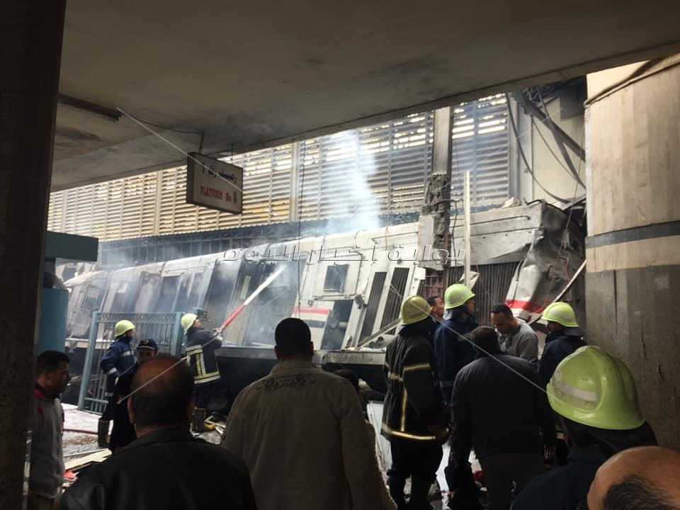 تفحم قطار محطة مصر
