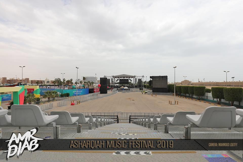 الاستعدادات النهائية لحفل عمرو دياب في السعودية