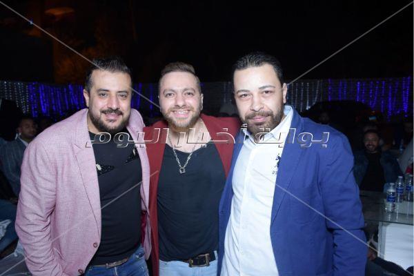 نجوان وخضر يحتفلان بخطوبة شقيقة المخرج محمد حجازي
