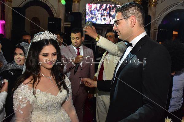 الليثي ومتقال وصافينار في زفاف ابنة اللواء محمد وهبة