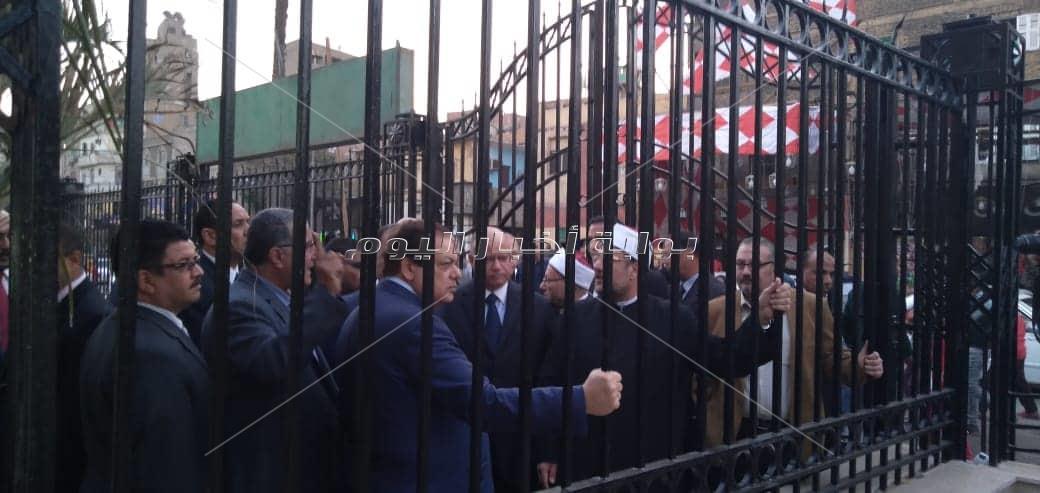 افتتاح أعمال نطوير ساحة مسجد السيدة زينب