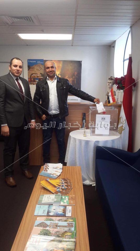 وافد المصريين بنيوزيلندا للمشاركة في الاستفتاء الدستوري