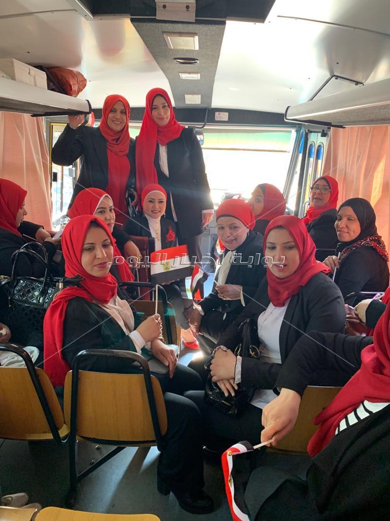 سيدات مصر يشاركن في الاستفتاء على التعديلات الدستورية