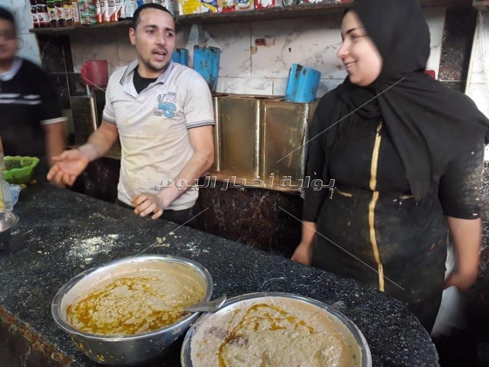 الحباش وأم الخلول طبق رئيسى على  مائدة  البحاروة فى رمضان