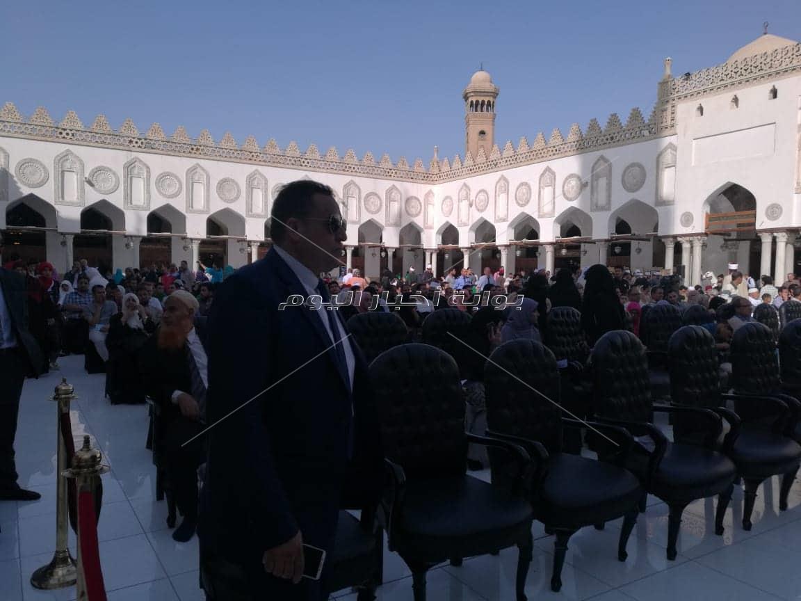 بدء حفل الجامع الأزهر بالقرآن الكريم والإنشاد الديني
