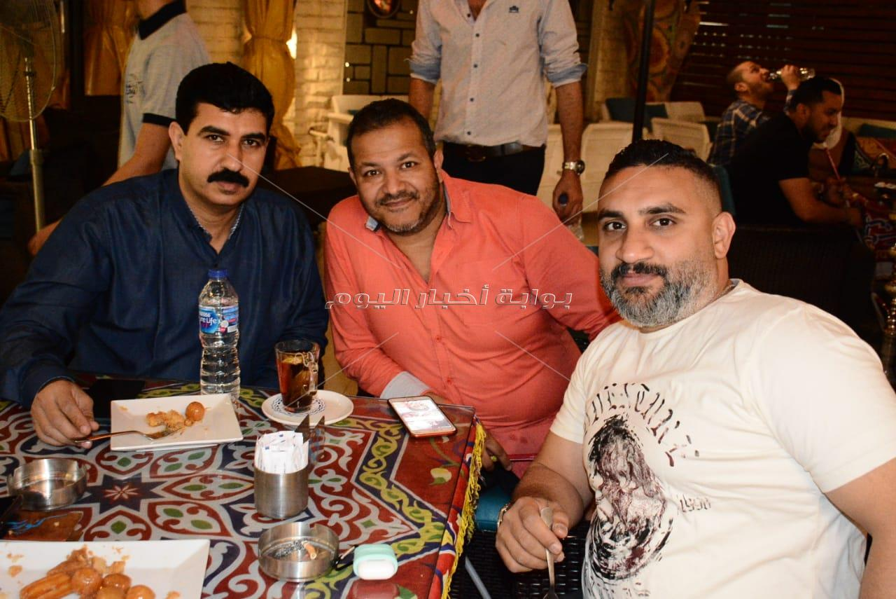 حمدي الوزير ومصطفى حجاج في حفل إفطار بمصر الجديدة