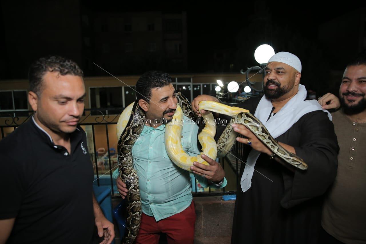 نجوم الفن الشعبي في سحور حجازي متقال