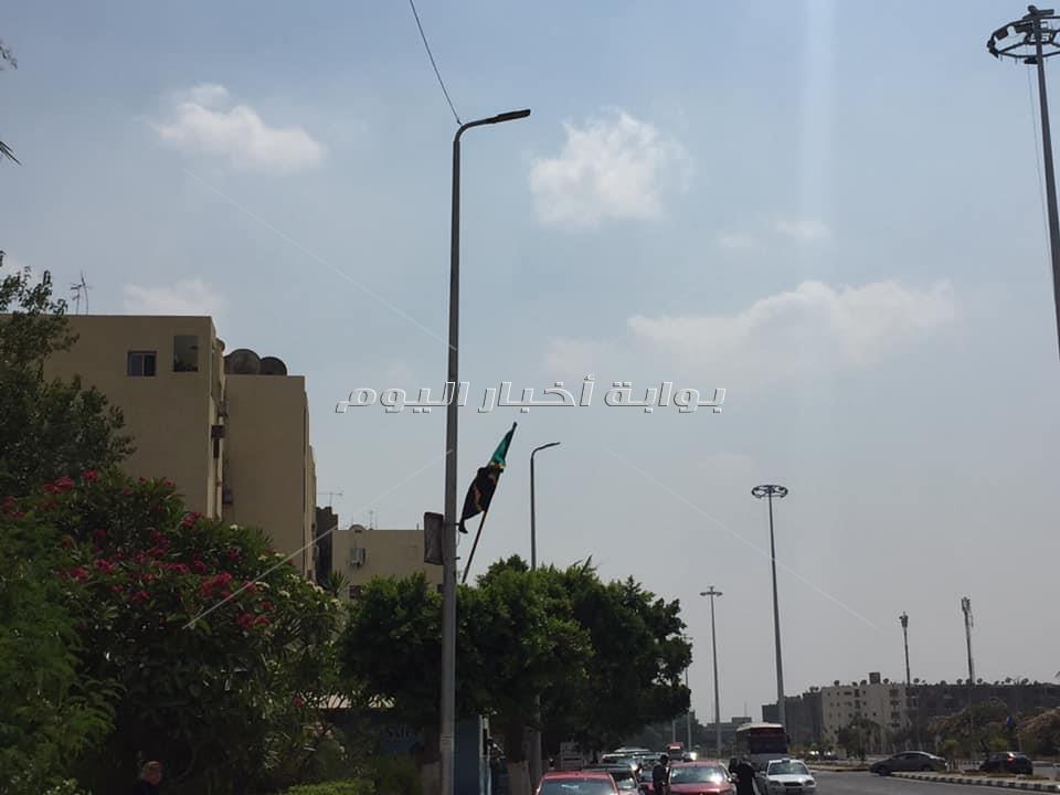 أعلام الدول الإفريقية تزين الشوارع المحيطة بإستاد القاهرة