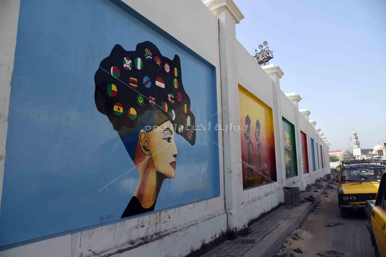 10 صور ترصد تحول استاد الإسكندرية لتحفة فنية