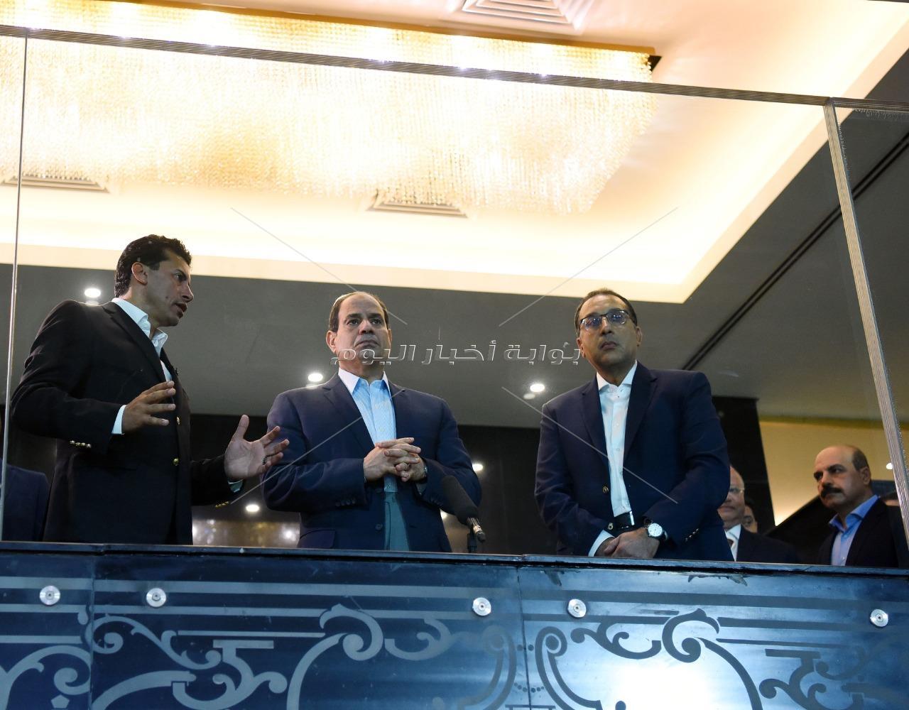 تفقد السيسي لاستاد القاهرة