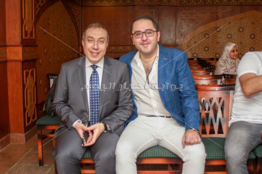 الفنان عمرو عبد العزيز يحتفل بعقد قران شقيقتة بحضور الفنانين