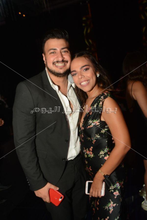 أحمد خالد صالح وهنادي مهنا في زفاف «خالد وآية»