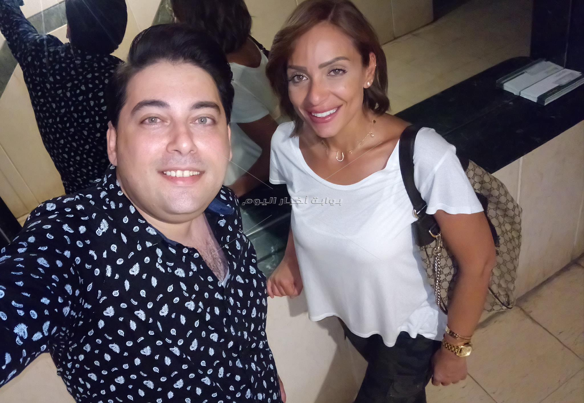 ريم البارودي وسالي عبد السلام تزوران إحدى دور الأيتام