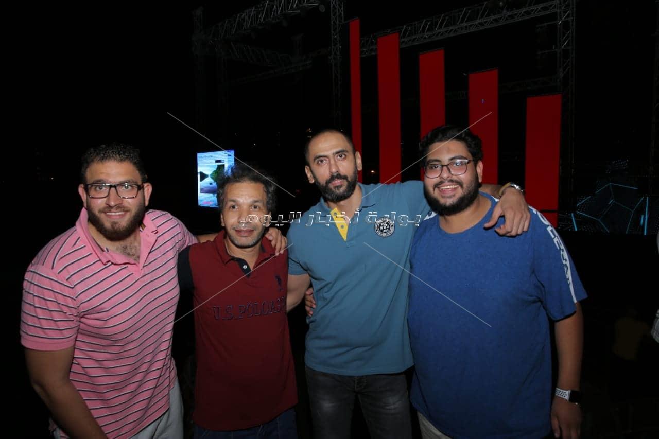 صور مسرح حفل محمد رمضان في الساحل الشمالي