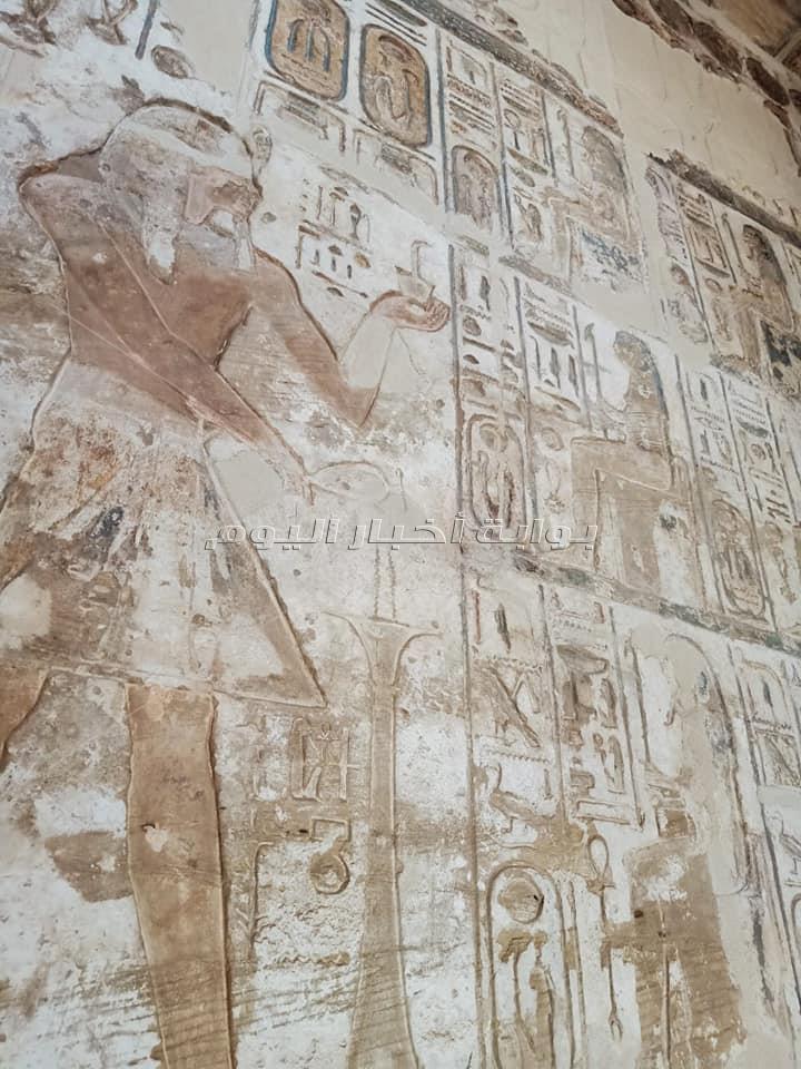 ننشر تفاصيل اعمال ترميم معبد «خنسو»