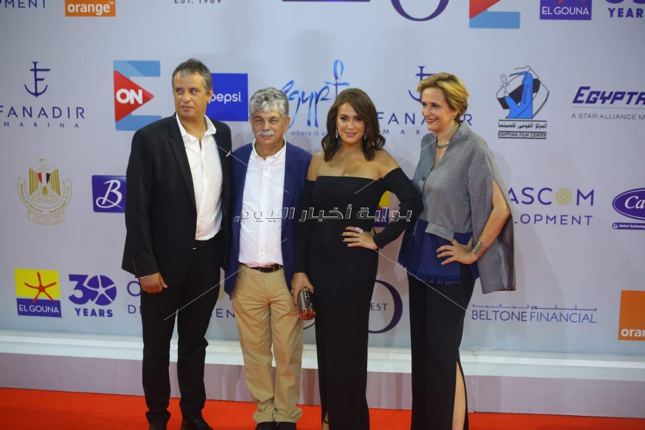 نجوم الفن في عرض فيلم هند صبري «نورا تحلم» بالجونة