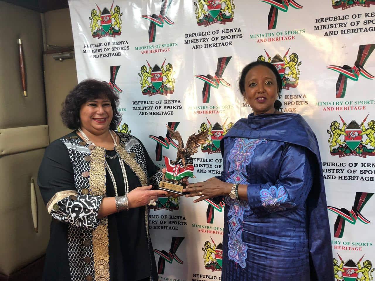 وزيرة الثقافة تبحث مع نظيرتها الكينية تكثيف الأنشطة الثقافية والإبداعية بين البلدين