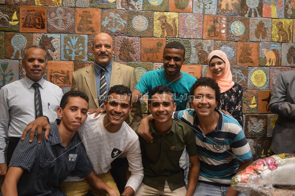 افتتاح مشروع التخرج لاعمال الخزف بكلية التربية النوعية في أسوان