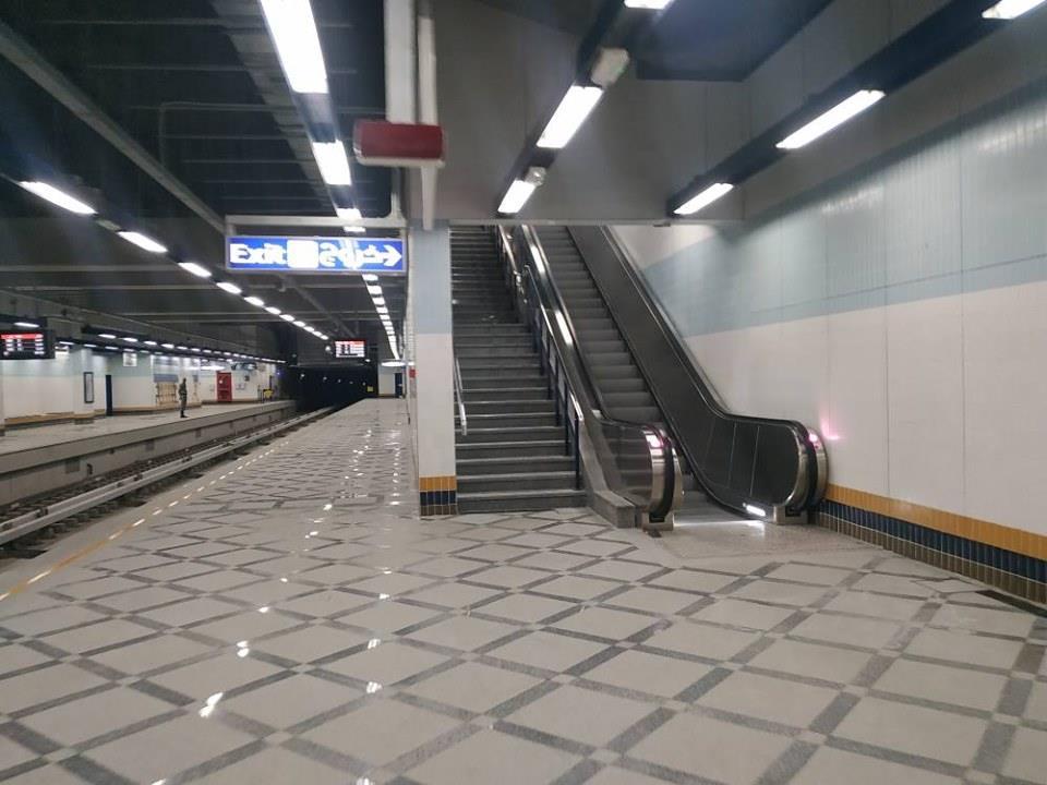 بالصور.. مرور أول قطار مترو بمحطة هليوبولس بالخط الثالث