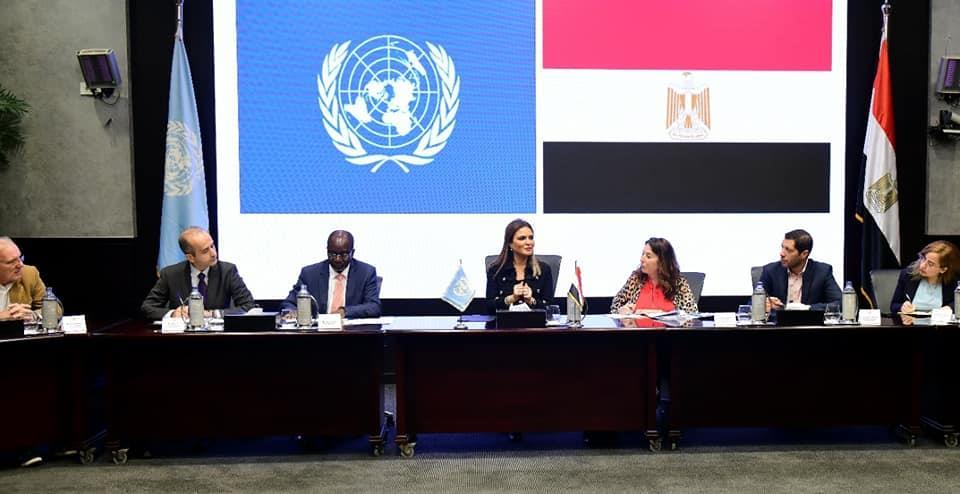 وفد برنامج الأمم المتحدة للمستوطنات البشرية يشيد بقصة نجاح مشروع الاسكان الاجتماعى