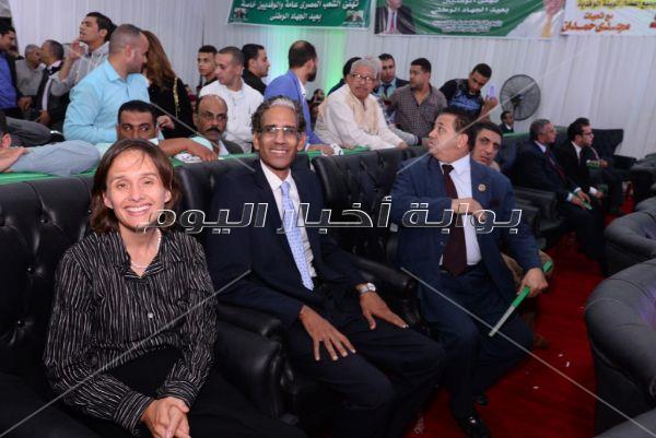 أشرف زكي ومحمد  عبدالحافظ في احتفالية «الوفد» بعيد الجهاد