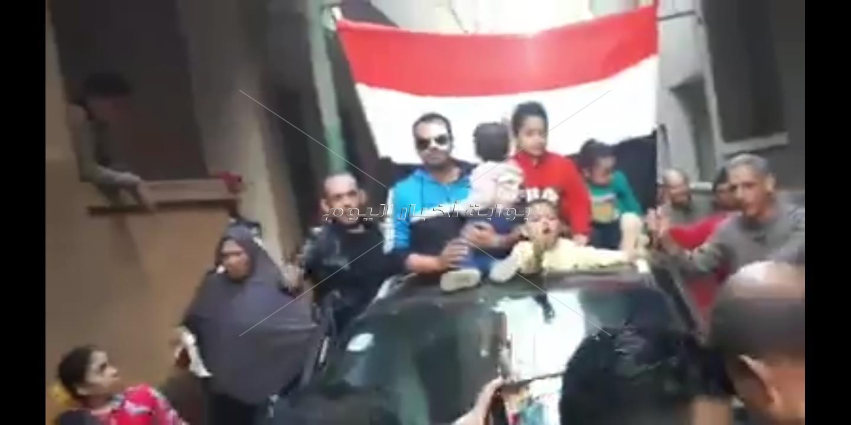 قرية المنشأة الكبري بالغربية تستقبل  الرائد إيهاب مرعي  بموكب واحتفالات