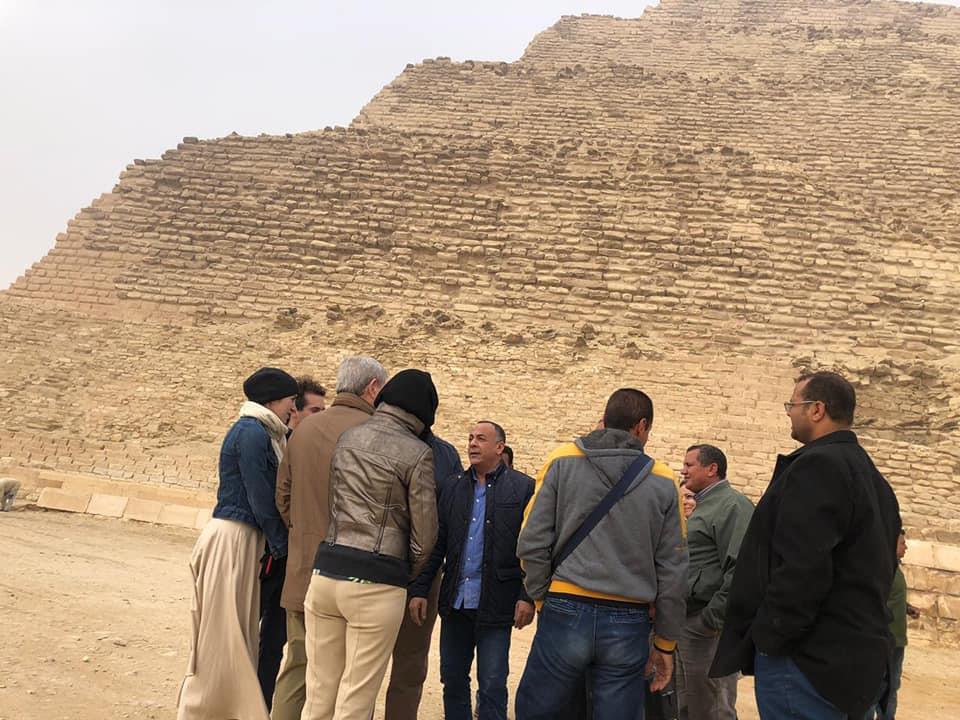بالصور.. تفقد الأعمال النهائية من مشروع ترميم الهرم المدرج بمنطقة سقارة الأثرية