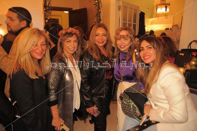 ليلى علوي ونيرمين الفقي ونيللي كريم ودرة فى حفل عرض مجوهرات وأزياء