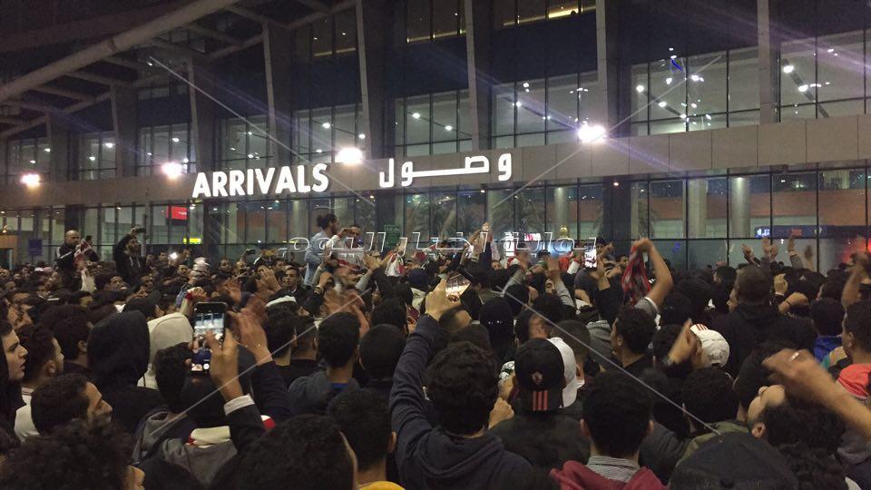 استقبال بعثة الزمالك بمطار القاهرة