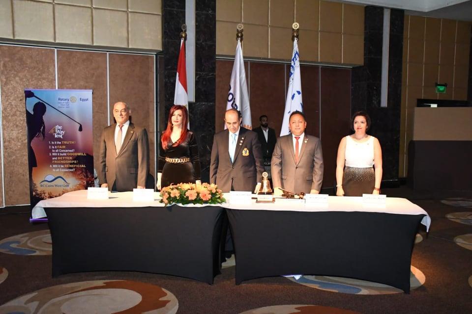 روتاري مصر يحتفل بنضمام نادي غرب لله