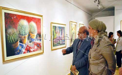 افتتاح معرض الفنانة التشكيلية هالة الشافعي