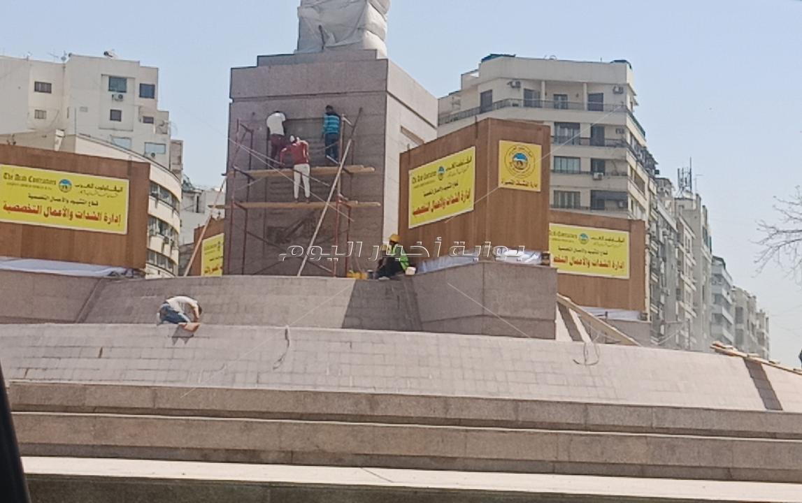 صور جديدة لنقل 4 كباش وتثبيتها وتزين ميدان التحرير