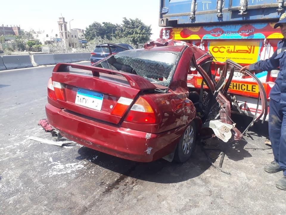 مصرع 4 أشخاص وإصابة آخر من أسرة واحدة في حادث تصادم بالإسكندرية