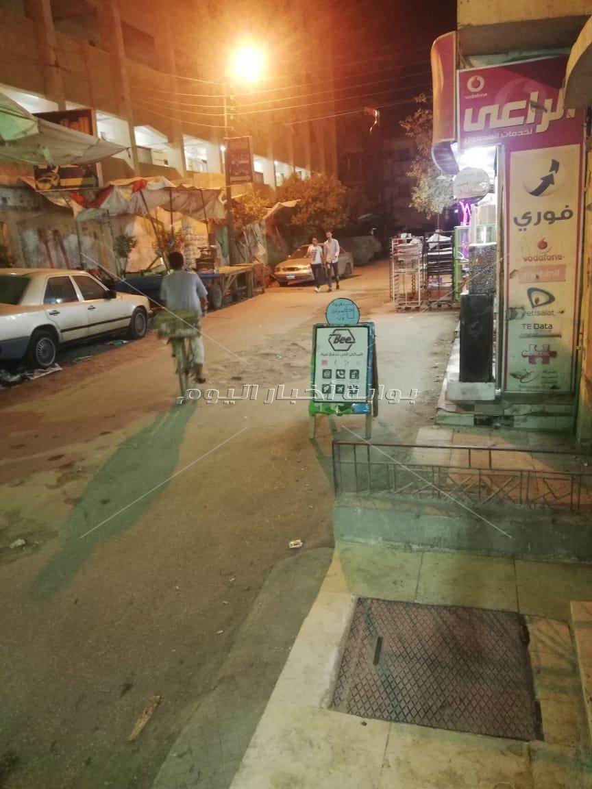 باعة جائلين وإشغالات بشوارع شبين القناطر