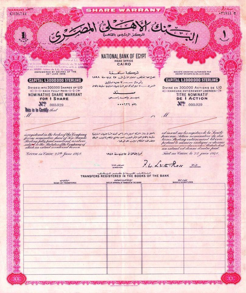ملكيات متنوعة للبنك الأهلي المصري