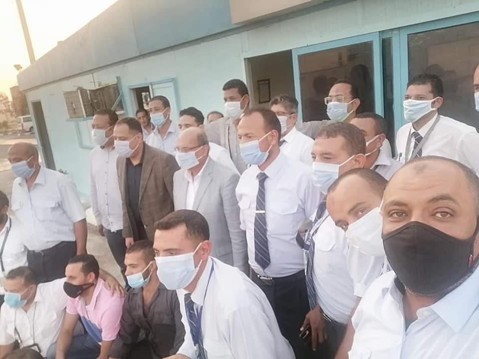 رئيس مصر للطيران للخدمات الأرضية يتابع سير العمل بمحطة مطار شرم الشيخ