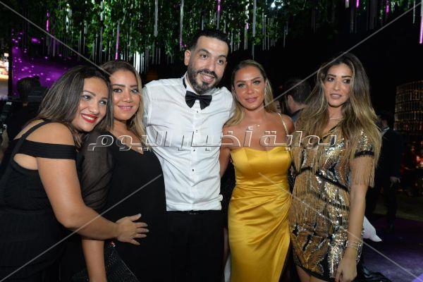 نجوم الفن والرياضة يجتمعون في حفل زفاف شريف منير حسن