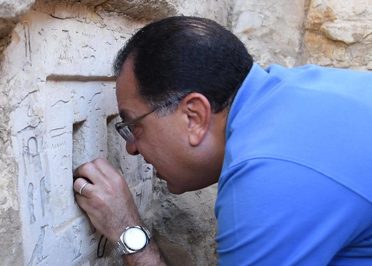 جولة رئيس الوزراء و وزير السياحة في منطقة اثار سقارة